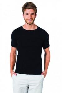 Черная мужская футболка круглым воротом