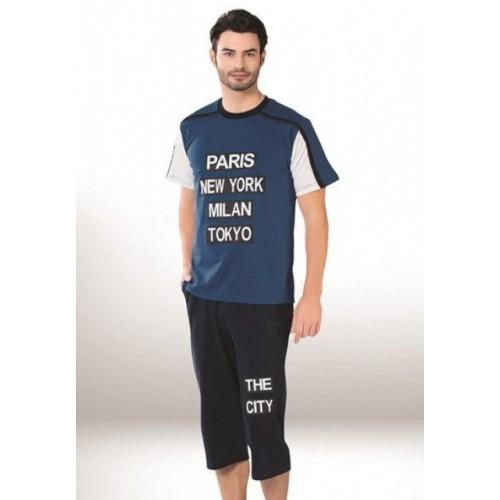 Мужская пижама-футболка капри