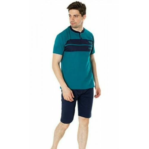 Мужской домашний комплект футболка и бриджи