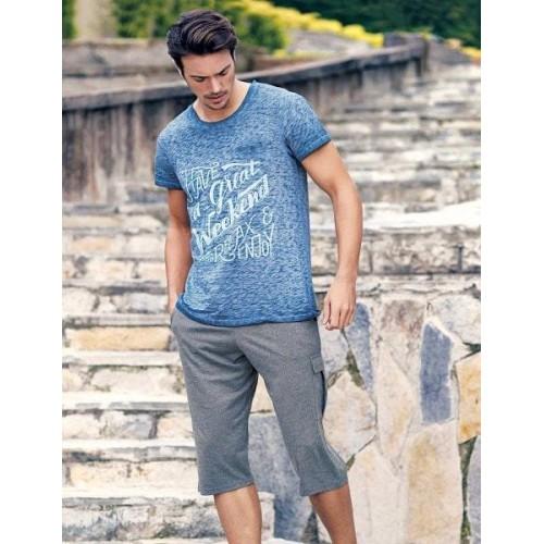 Мужской комплект футболка и бриджи