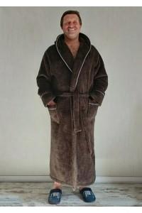 Длинный мужской махровый халат