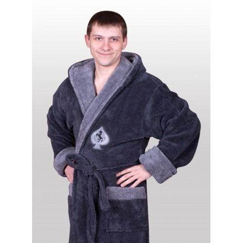 Мужской очень тёплый махровый халат
