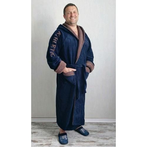 Мужской тёплый махровый халат