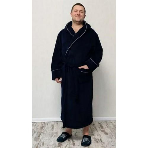 Тёплый мужской махровый халат
