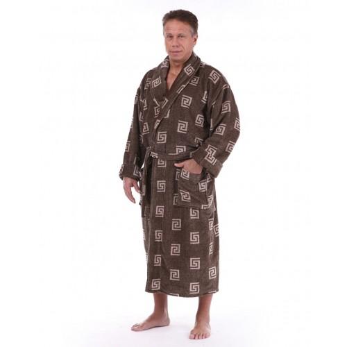 Мужской банный натуральный халат