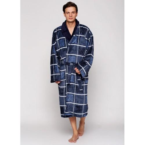 Мужской халат натуральный банный