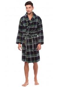 Мужской махровый халат до колен