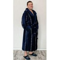 Мужской натуральный халат больших размеров