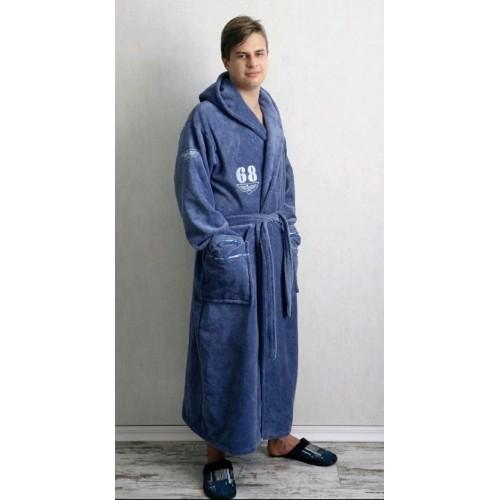 Натуральный мужской халат Турция