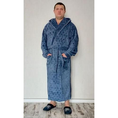Натуральный зимний мужской халат