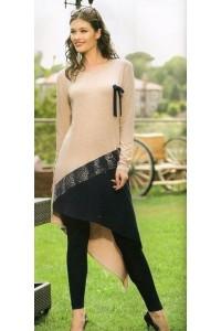 Комплект элегантное платье с лосинами
