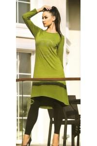 Модный комплект платье с лосинами