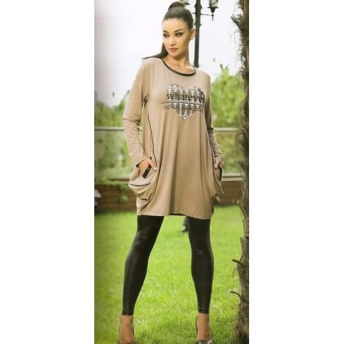 Женский комплект платье с лосинами