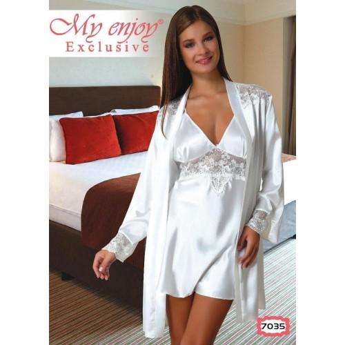 Комплект халат и ночная сорочка-пеньюар