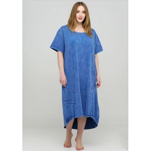 Длинное платье с вышивкой 11055
