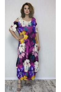 Летнее платье с открытыми плечами 4387