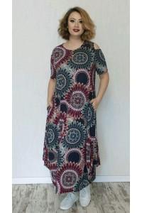 Летнее платье с принтом 11353