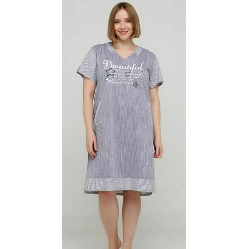 Модное женское домашнее платье