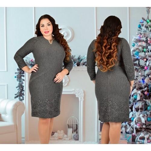 Женское демисезонное платье из плотного трикотажа