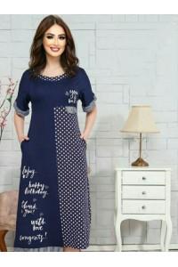 Женское домашнее платье с горохом