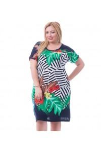 Женское летнее платье с цветами
