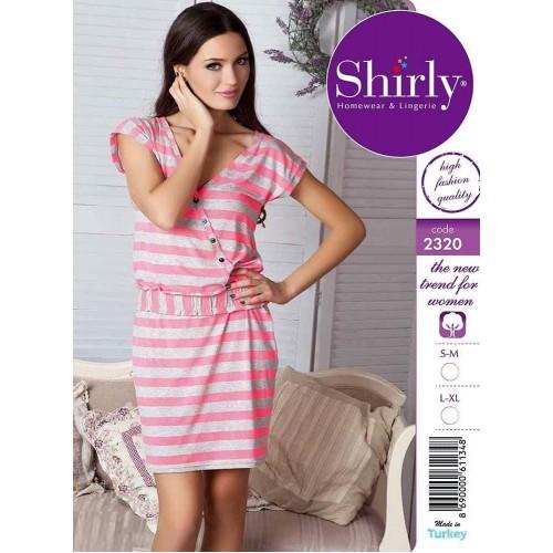 Женское платье- туника в полоску