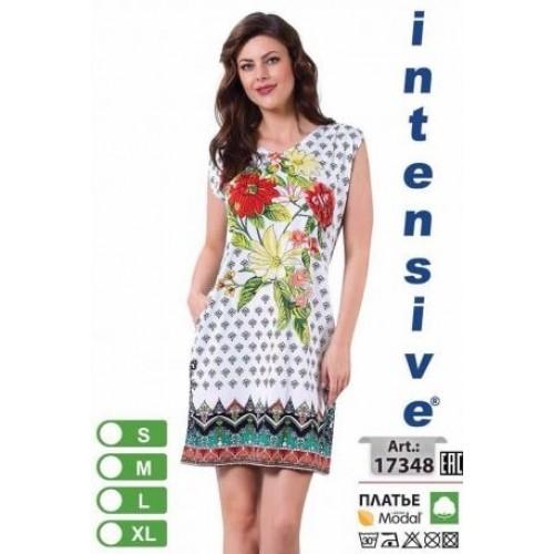 Женское платье без рукавов для лета