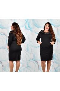 Женское платье демисезонное черного