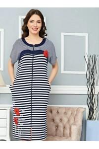 Женский летний халат большого размера