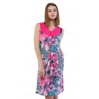 Женский трикотажный цветной халат