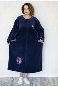 Большой велюровый халат листок