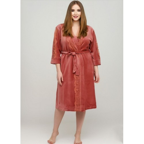 Модный велюровый халат на запах