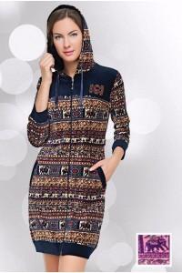 Модный велюровый халат на девушку