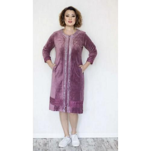 Турецкий велюровый халат