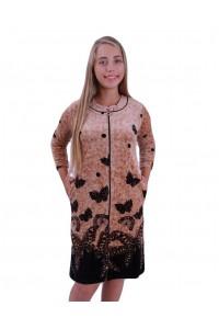Велюровый халат бабочки