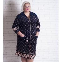 Велюровый халат большого размера 4xl-5xl-6xl