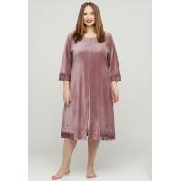 Велюровый халат для женщин