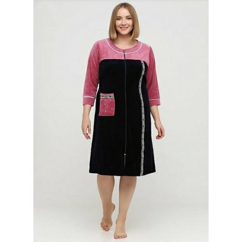Велюровый женский халат Новая модель