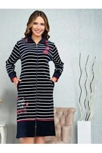 Женский большой велюровый халат 58-60-62