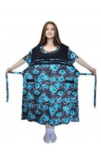 Легкий женский халат большого размера