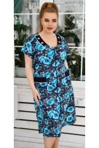 Модный женский трикотажный халат
