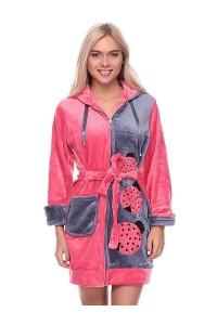 Махровый халат на девушку