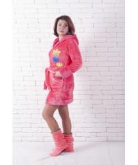 Махровый женский короткий халат