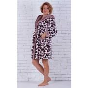 Тигровый махровый халат на девушку