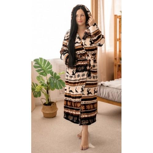 Женский длинный халат махра