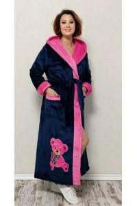 Женский махровый халат Мишка