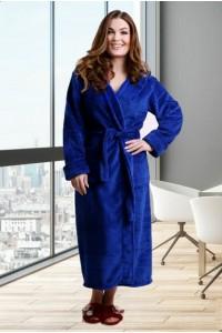 Женский плюшевый длинный халат