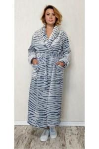 Женский тёплый халат большого размера