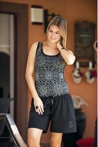 Женский комплект майка и свободные шорты