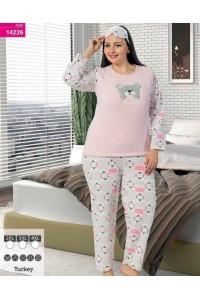 Флисовая пижама с махрой больших